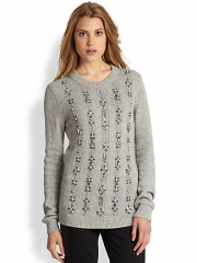 Tory Burch - Jeweled Pullover Sweater at Saks Fifth Avenue