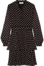 Tory Burch   Seymour printed silk-georgette mini dress at Net A Porter