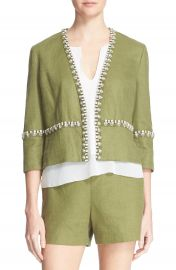 Tory Burch   x27 Avery  x27  Embellished Jacket at Nordstrom