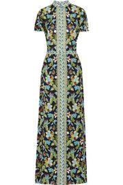 Tory Burch  Printed silk-chiffon maxi dress at Net A Porter