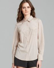 Tory Burch Brigitte Polka Dot Shirt at Bloomingdales