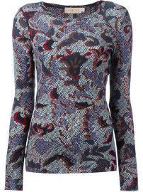 Tory Burch Brocade Print T-shirt - Amr at Farfetch