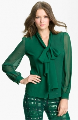 Tory Burch Bryce Silk Blouse at Nordstrom