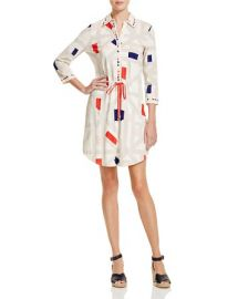 Tory Burch Geo Print Drawstring Shirt Dress - 100  Bloomingdale  039 s Exclusive at Bloomingdales