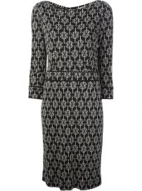 Tory Burch Geometric Print Crepe Dress - at Farfetch