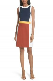 Tory Burch Mya Colorblock Stretch A-Line Dress at Nordstrom