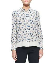 Tory Burch Pamela Floral-Print Shirt at Neiman Marcus