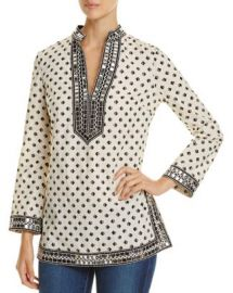 Tory Burch Tory Sequin-Embellished Printed Tunic at Bloomingdales