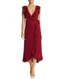 Tory Burch Whitney Pleated Ruffle Wrap Dress at Bloomingdales