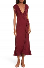 Tory Burch Whitney Wrap Midi Dress at Nordstrom