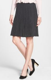 Tory Burch and39Ericaand39 Polka Dot Silk Skirt at Nordstrom