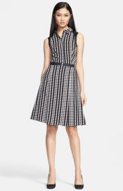 Tory Burch and39Katyand39 Stretch Silk Fit andamp Flare Dress at Nordstrom