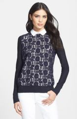 Tory Burch and39Sandyand39 Crewneck Sweater at Nordstrom