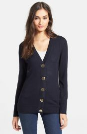 Tory Burch and39Simoneand39 Merino Cardigan at Nordstrom