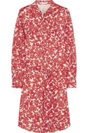Tory BurchandnbspandnbspBrigitte printed cotton shirt dress at Net A Porter