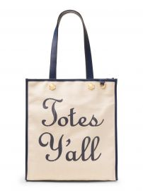 Totes Yall Vanderbilt Tote Cream at Draper James