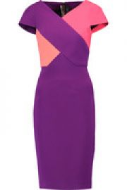 Tournay color-block crepe dress at The Outnet