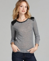 Townsen Top - Seattle Stripe Leather Detail at Bloomingdales