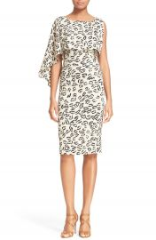 Tracy Reese Asymmetrical Print Stretch Silk Dress at Nordstrom