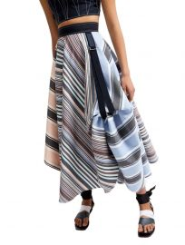 Transforming Striped Satin Maxi Skirt by Sportmax at Sports Max