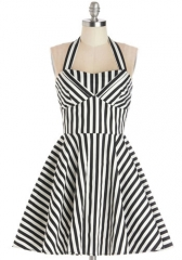 Travelling Cupcake Dress in Licorice Stripe at ModCloth