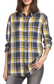 Treasure   Bond Plaid Boyfriend Shirt at Nordstrom