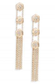 Treasure  amp  Bond Crystal Fringe Linear Drop Earrings at Nordstrom