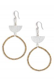 Treasure  amp  Bond Etched Plate Beaded Earrings at Nordstrom