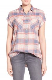 Treasure Bond Drapey Plaid Shirt at Nordstrom