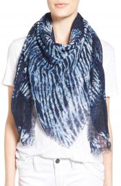 TreasureandBond Midnight Mix Dip Dye Scarf at Nordstrom
