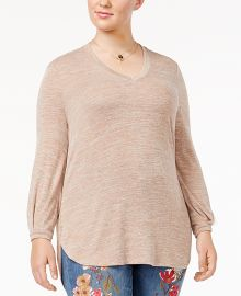 Trendy Plus Size High-Low Top at Macys