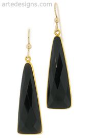 Triangle Black Spinel Earrings at Arte Designs