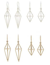 Triangle Cage Earrings at Peggy Li