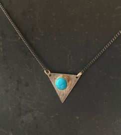 Triangle necklace at Etsy
