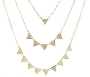Triangles Necklace at Peggy Li