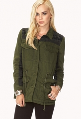Tribal Pattern Utility Jacket at Forever 21