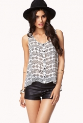 Tribal Print Chiffon Top at Forever 21