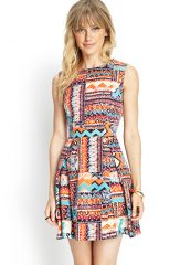 Tribal Print Woven Dress at Forever 21