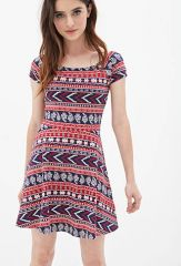 Tribal print dress at Forever 21