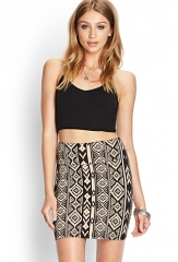 Tribal print skirt at Forever 21