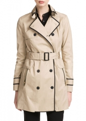 Trim Trench Coat at Mango