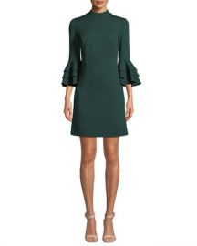 Trina Turk Dylan 2 Tropical Ponte Bell-Sleeve Dress at Neiman Marcus