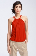 Trina Turk Imma Draped Halter Top in Red at Nordstrom