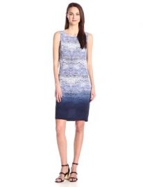 Trina Turk Womenand39s Jacquelin Ink Wave Washed Crepe De Chine Drape Back Dress at Amazon