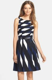 Trina Turk and39Medinaand39 Belted Woven Fit andamp Flare Dress at Nordstrom