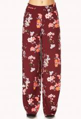 Tropical Floral Wide Leg Pants at Forever 21