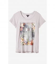 Tropical Love Graphic Boxy Tee at Express