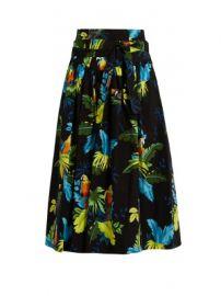 Tropical bird-print cotton-blend skirt    Marc Jacobs   MATCHESFASHION COM US at Matches
