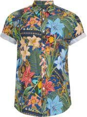 Tropical print shirt at Topman