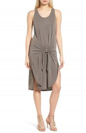 Trouv   Tie Front Knit Dress at Nordstrom